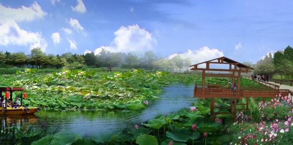 湖北省鄂州市花湖乡岛田园度假区_田园综合体规划案例