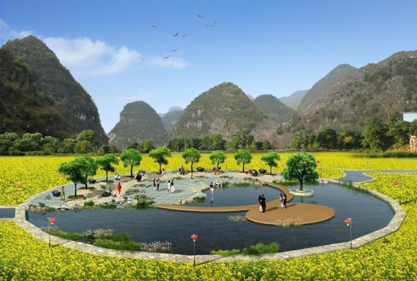 古驿站文化广场_乡村景观设计案例-北京创行合一旅游